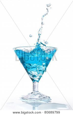 Blue Cocktail With Splash