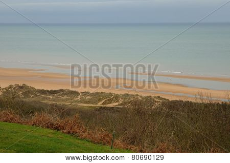 Omaha Beach In  Colleville Sur Mer In Normandy