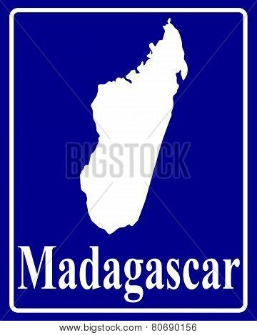Silhouette Map Of Madagascar