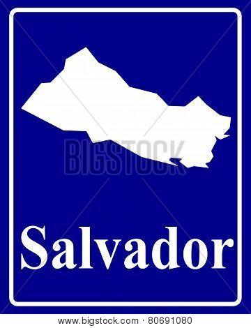 Silhouette Map Of Salvador