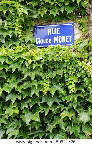 France, Detail Of Claude Monnet Street In Giverny