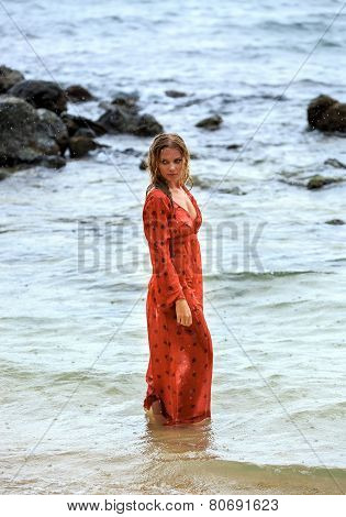 Young Woman In The Water