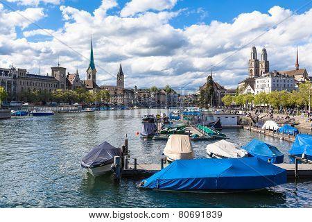 View Of Zurich Old Town