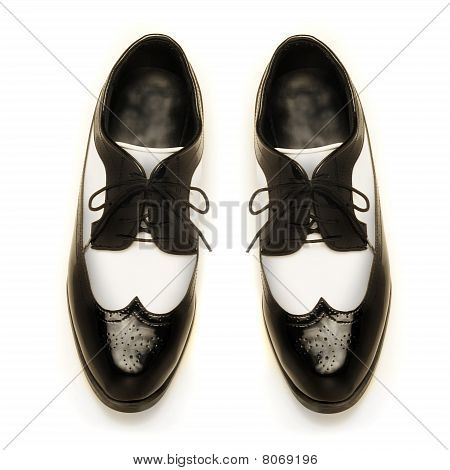 Two-tone Patent Leather Men's Shoes