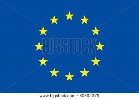European Union Flag. Original Proportion And Colors. Eu Symbol