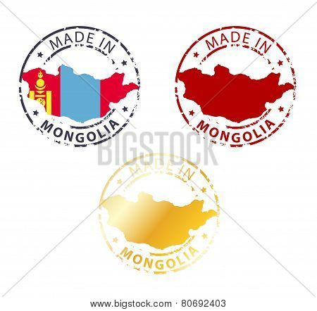 Made In Mongolia Stamp