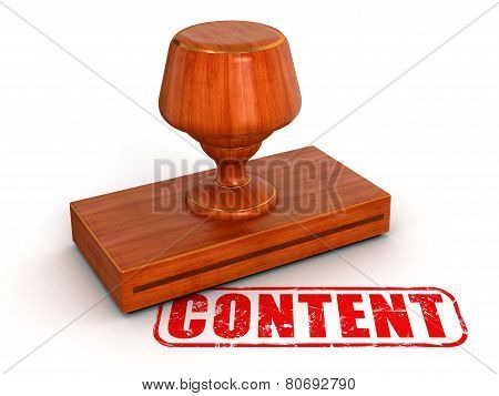 Rubber Stamp content (clipping path included)