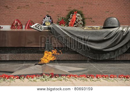 Moscow, Tomb of the Unknown Soldier in Alexander Garden