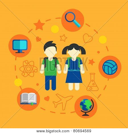 Set of family planning and vacation infographic design elements vector illustration