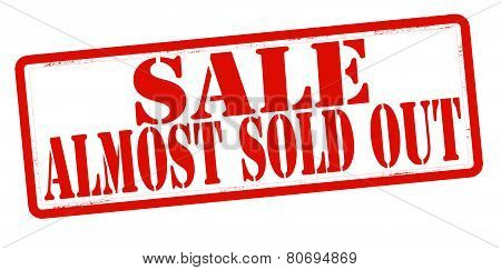 Sale Almost Sold Out