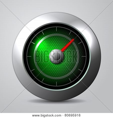 Speedometer in the car isolate. Vector