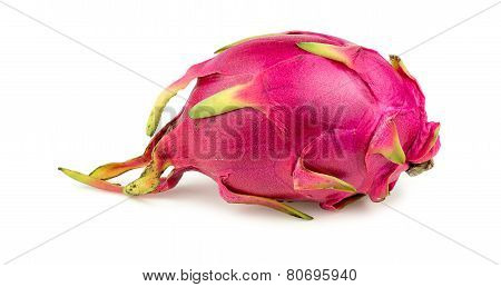 Exotic Dragonfruit Isolated On White Background