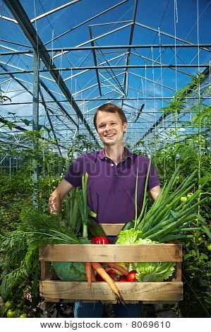 Man With Vegetable Box