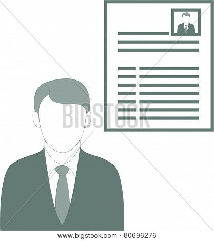 Businessman Presenting His Cv