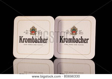 Beermats From Krombacher Beer.