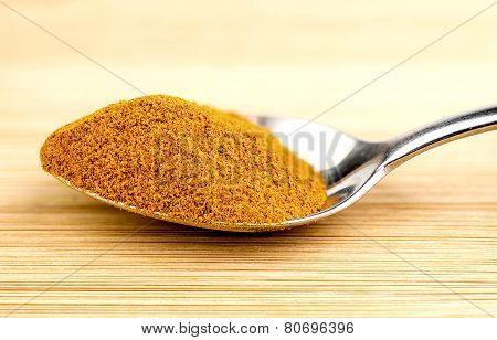 Bright Turmeric Powder In Teaspoon