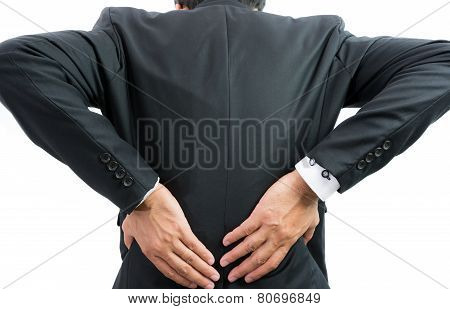 Businessman Backache Isolate