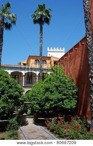 Castle of the Kings gardens, Seville.