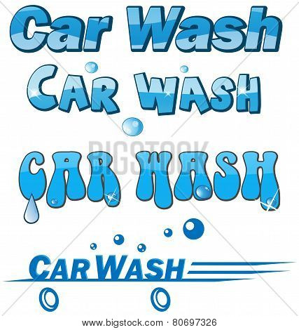 Car Wash Symbol Set.isolated On White