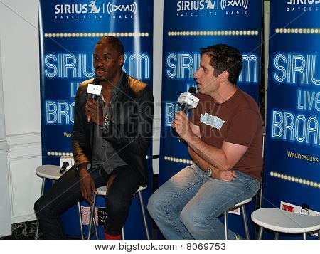 Seth Rudetsky with Colman Domingo at SIRIUS XM Live On Broadway