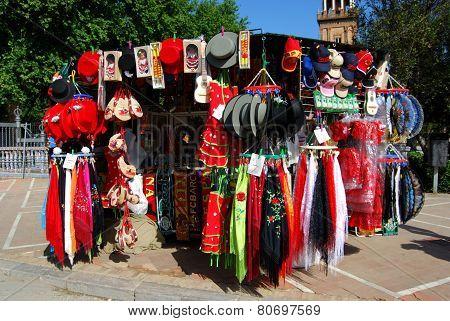 Souvenir stall, Seville.