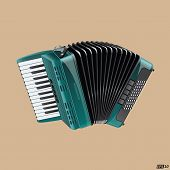 pic of accordion  - Detailed illustration of Accordion with all the details - JPG