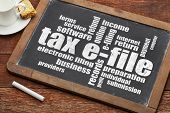 picture of slating  - tax electronic filing concept  - JPG