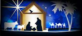 image of nativity scene  - Christmas Christian nativity scene - JPG