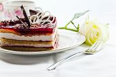 picture of torte  - Photograph of a tasty torte with jelly - JPG