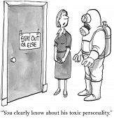 picture of personality  - The boss has an unusually difficult personality - JPG