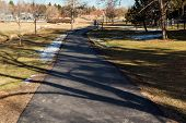 pic of suburban city  - Typical suburban American park in late January - JPG