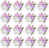 foto of rose bud  - Pattern of 3 pastel pink - JPG