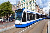pic of tram  - Modern tram in Amsterdam - JPG