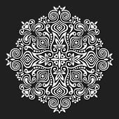 stock photo of decorative  - Abstract Flower Mandala - JPG