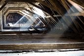 pic of attic  - old attic of a house - JPG