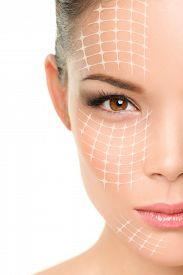stock photo of face mask  - Face lift anti - JPG