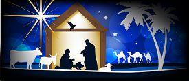 picture of desert christmas  - Christmas Christian nativity scene - JPG