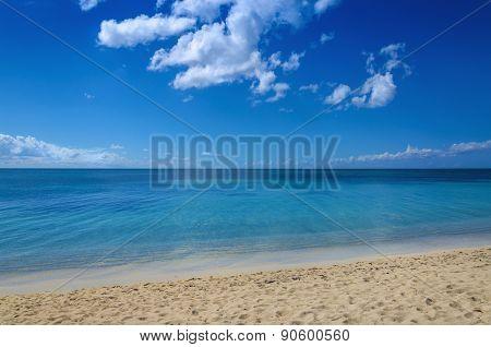 Endless sea and beautiful sandy beach
