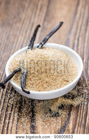Portion Of Vanilla Sugar (brown)