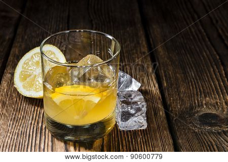Glass With Whiskey Sour