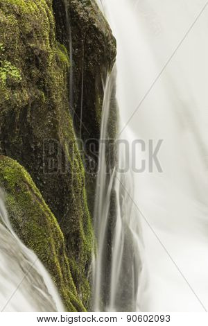 Misty Woodland Waterfall
