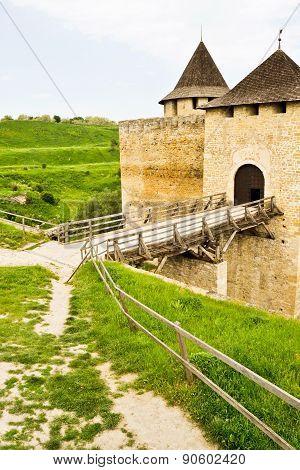 Medieval Fortress Khotyn in western Ukraine