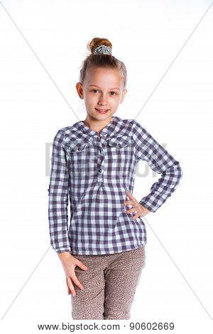 Girl posing in studio