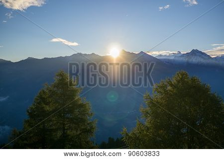 Sunshine Above Mountains.