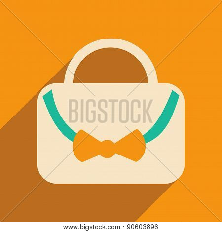 Flat with shadow icon and mobile applacation Handbags