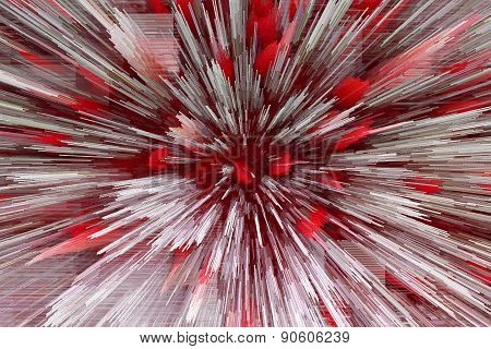 Red And White Abstraction Like Explosion
