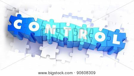 Control - White Word on Blue Puzzles.