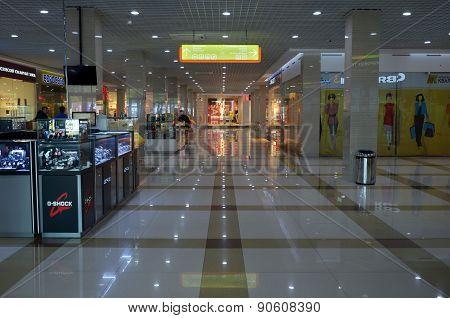 irkutsk, Russia-June,18 2014: Hall of new shopping center in Irkutsk