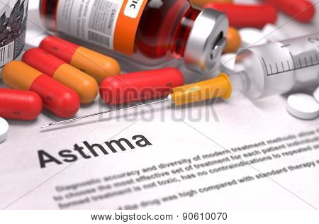 Diagnosis - Asthma. Medical Concept.