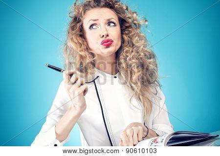 Attractive Blonde Woman.